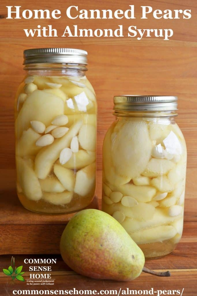 canned almond pears