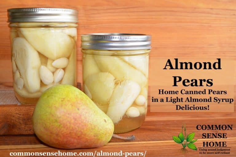 Almond Pears – Home Canned Pears with a Light Almond Syrup