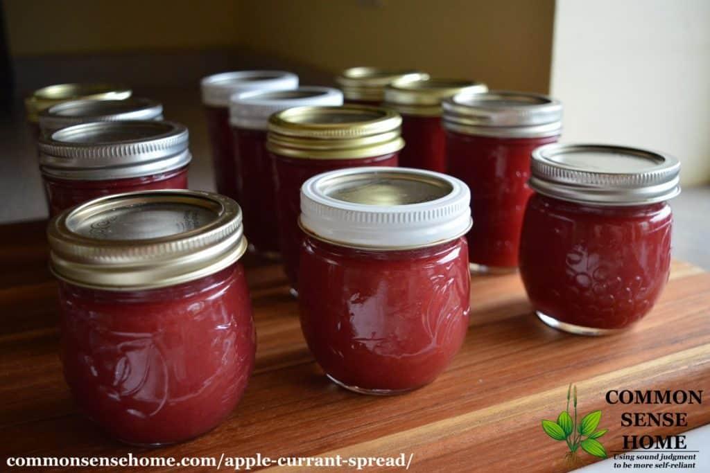 apple currant spread jars