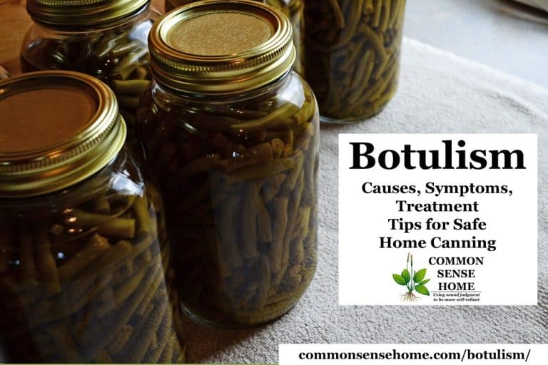 Botulism – Causes, Symptoms, Treatment, Tips for Safe Home Canning