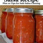 home canned salsa jars