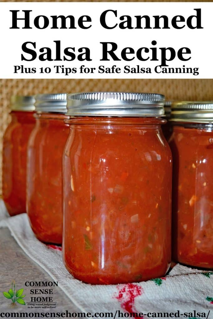 home canned salsa in mason jars