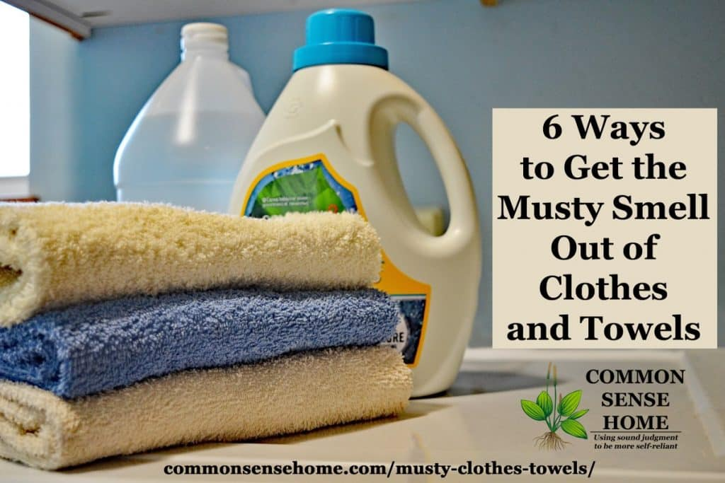 cleaning musty towels