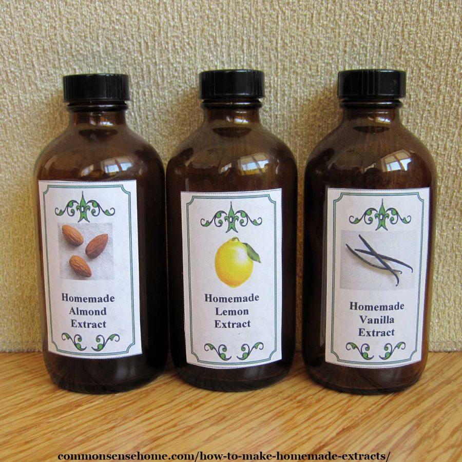 homemade extract - almond, lemon, vanilla