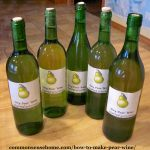5 bottles of homemade pear wine