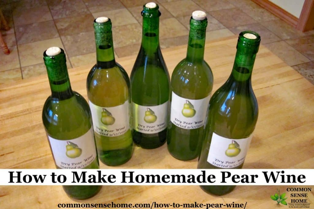 pear wine bottles