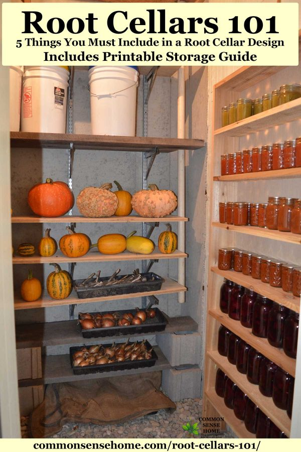 root cellar for food storage
