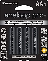 Eneloop Pro AA Low Self Discharge Rechargeable AA batteries