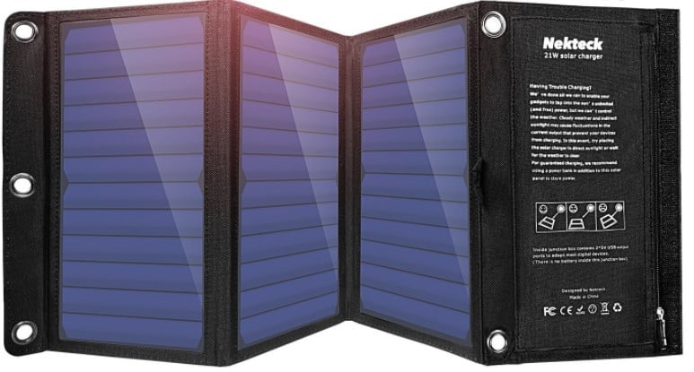 Nekteck 21w Solar Panel with USB port