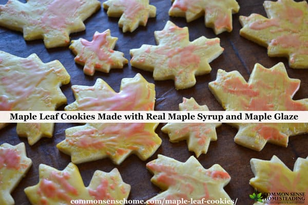 These maple leaf cookies are a maple twist on traditional sugar cookies with a dash of spice and light maple glaze for a simple but tasty cookie.