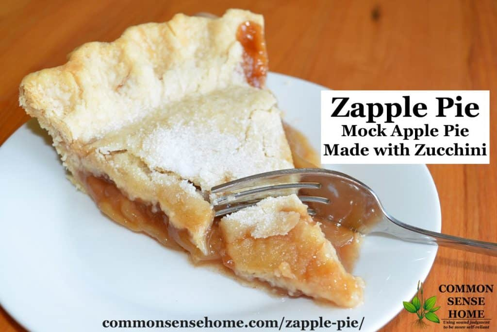 mock apple pie with zucchini