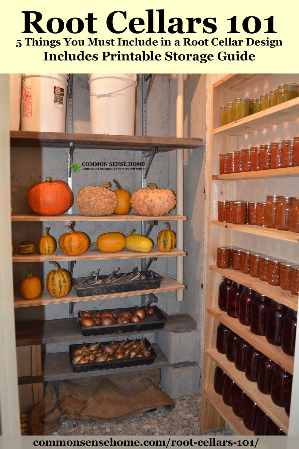 Root Cellars 101- Root Cellar Design, Use and Mistakes to Avoid