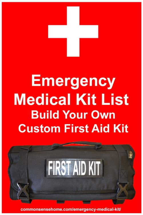 Emergency medical kit list build your own custom first for Custom build your own home