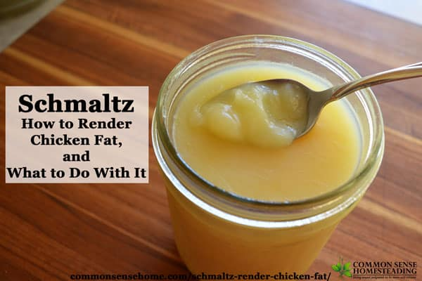 Schmaltz (rendered chicken fat or rendered fat from ducks or geese) is easy to make with fresh fat and adds a unique flavor and texture to many dishes.