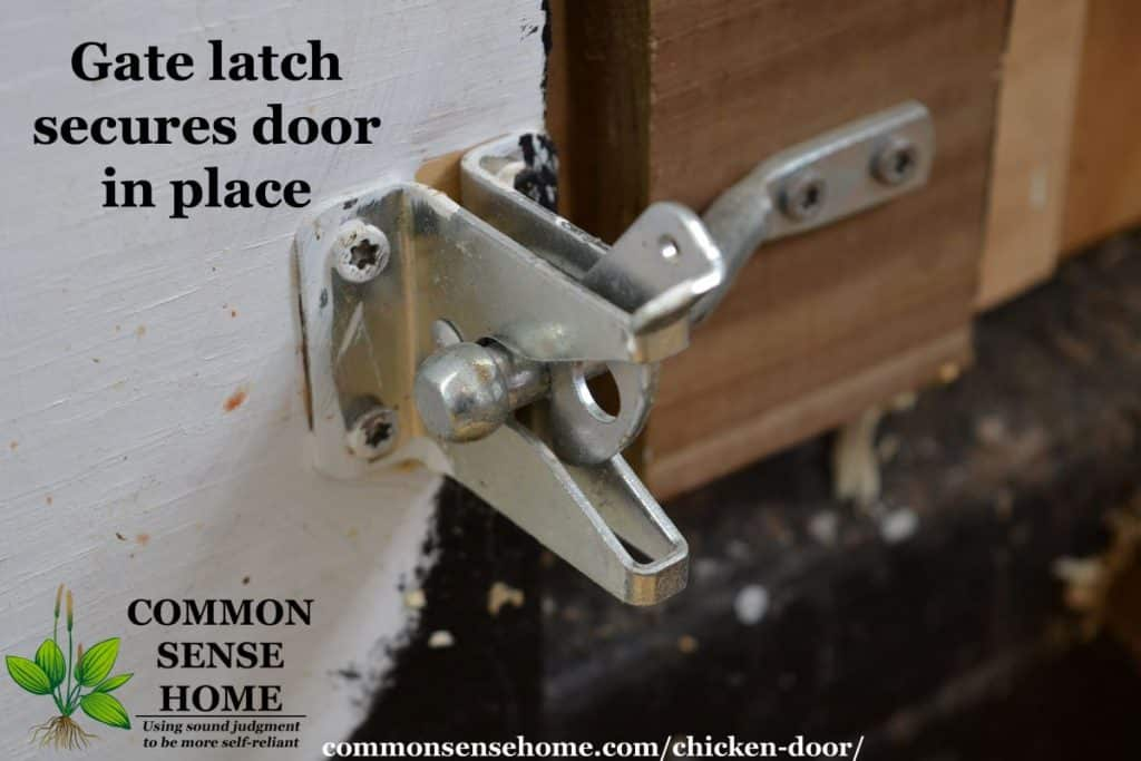 Chicken door latch