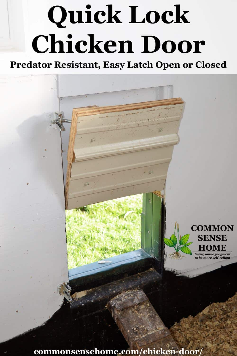 Quick Lock Chicken Door Predator Resistant Easy Latch