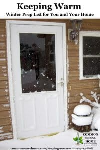 snow covered door