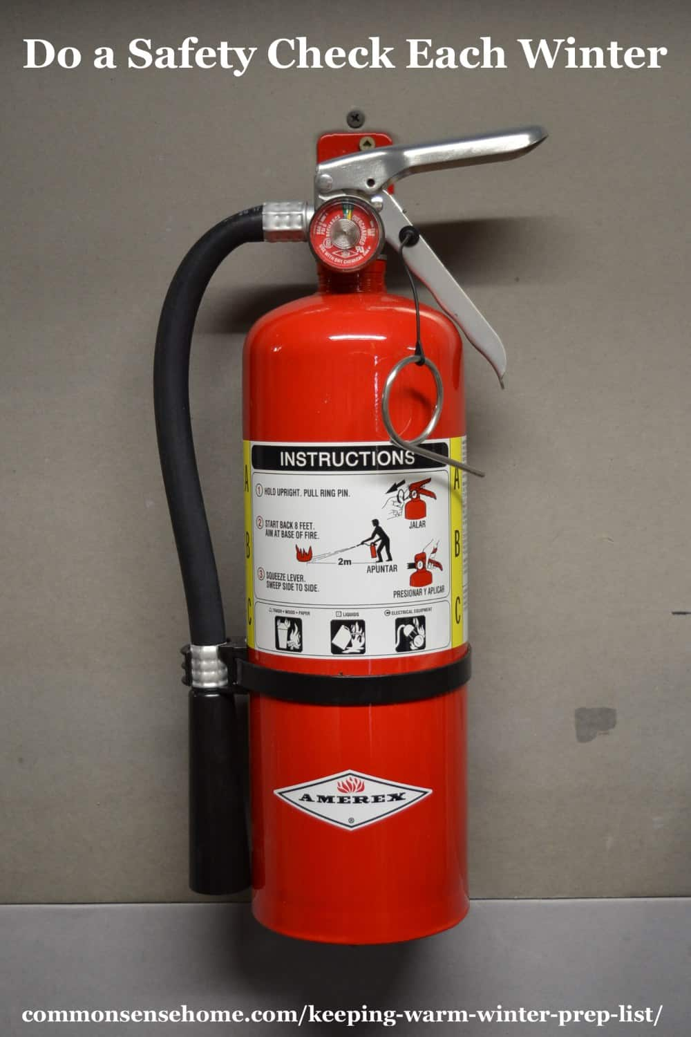 wall mounted extinguisher
