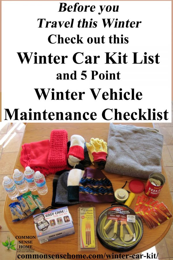 winter car emergency kit