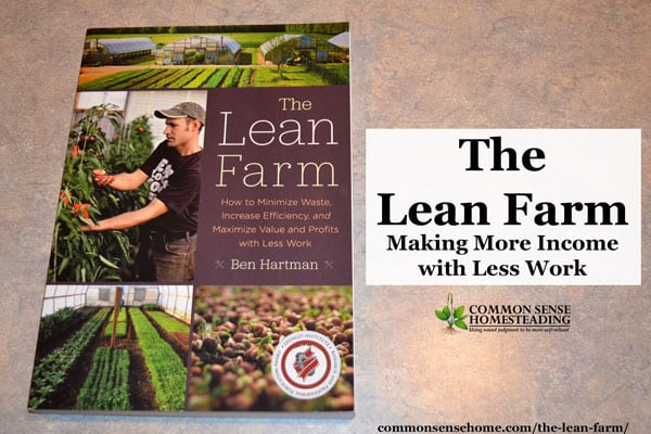 While geared toward the market gardener, The Lean Farm will help homesteads and farms of any size to reduce wasted time and materials and increase income.