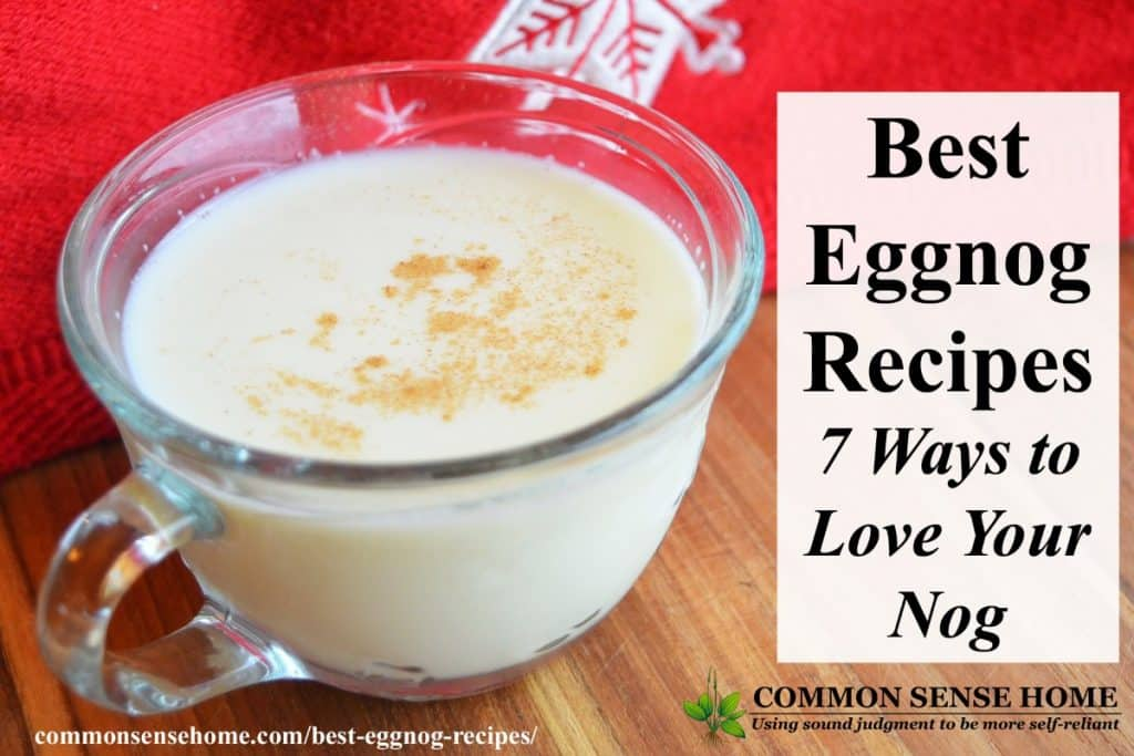 eggnog in cup