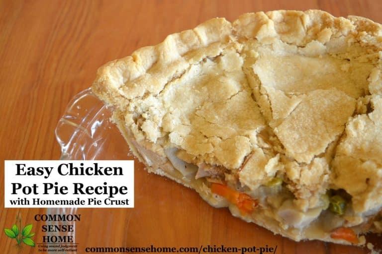 Easy Chicken Pot Pie Recipe with Homemade Pie Crust