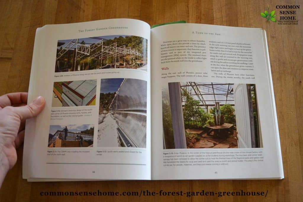 Interior photos from The Forest Garden Greenhouse Book