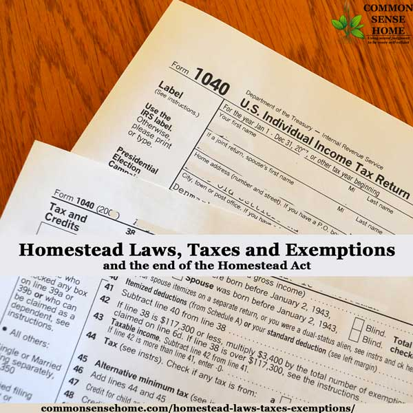 Federal and State Tax Credits, State Homestead Exemptions, Federal Homestead Exemption and Residential Renewable Energy Tax Credit. Links to each states homestead related laws.Federal Homestead Act information.