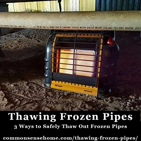 Thawing Frozen Pipes - 3 Ways to Safely Thaw out Frozen Pipes