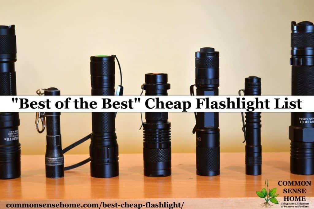 cheap flashlight lineup