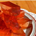 Easy finger jello recipe based on Knox blocks. Make it with your choice of fruit juice and gelatin or gelatin substitute.