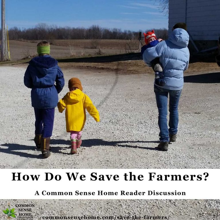 How Do We Save the Farmers – A Common Sense Home Reader Discussion
