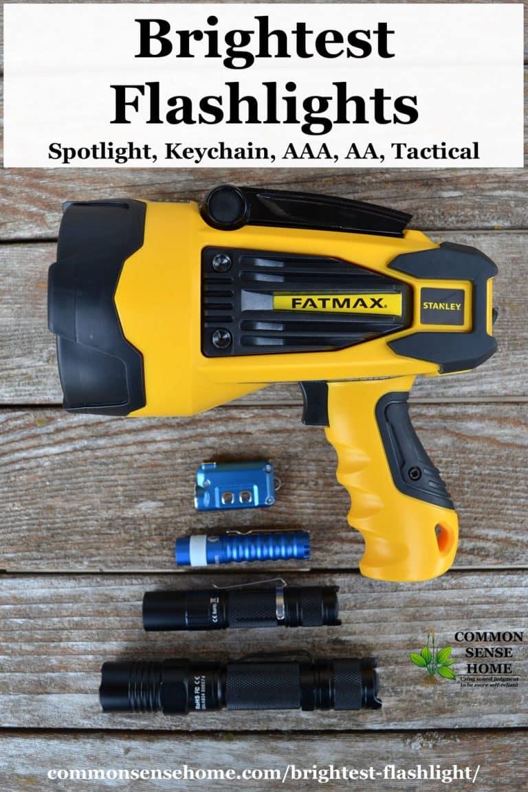 Brightest Flashlight – AAA, AA, Tactical, Keychain and Spotlight