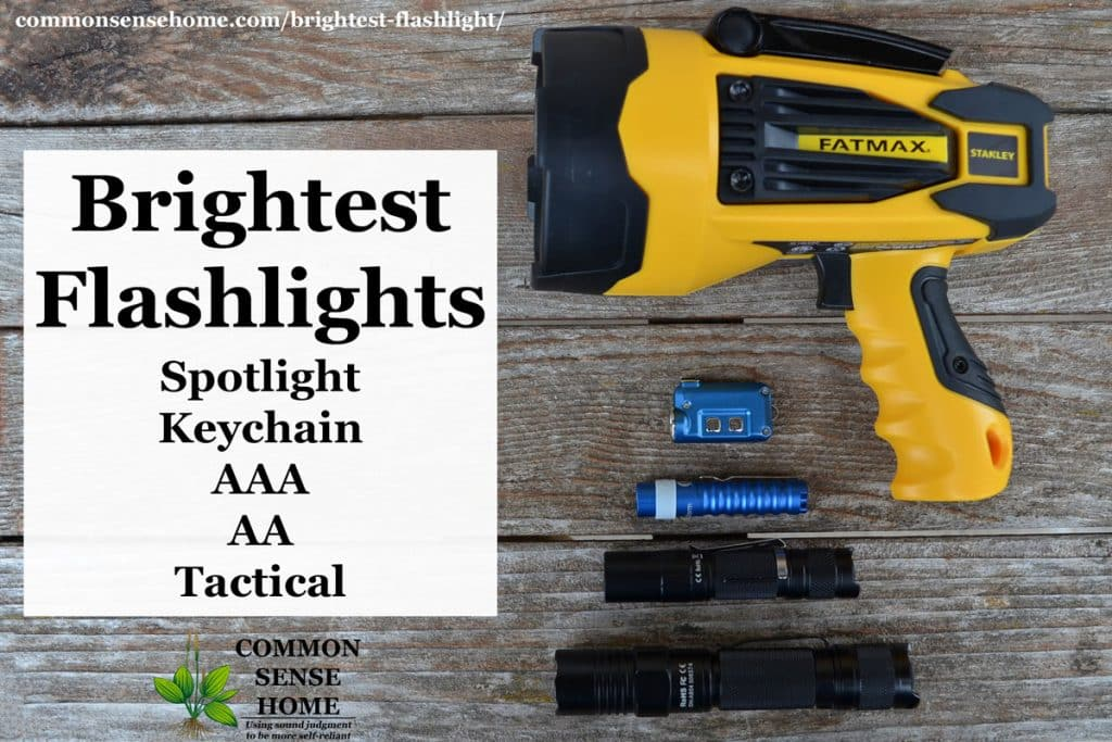 Brightest Flashlight - AAA, AA, Tactical, Keychain and Spotlight