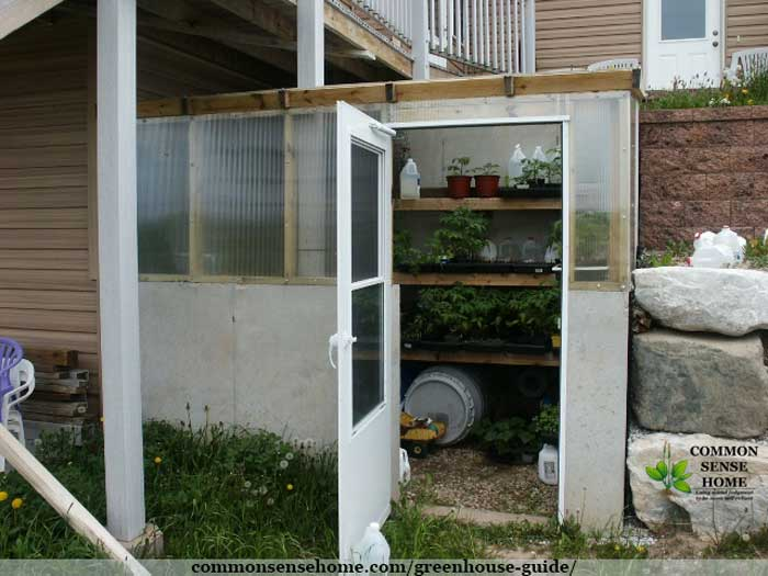 attached earth sheltered greenhouse