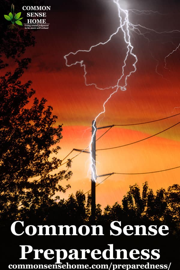 lightening hitting power lines
