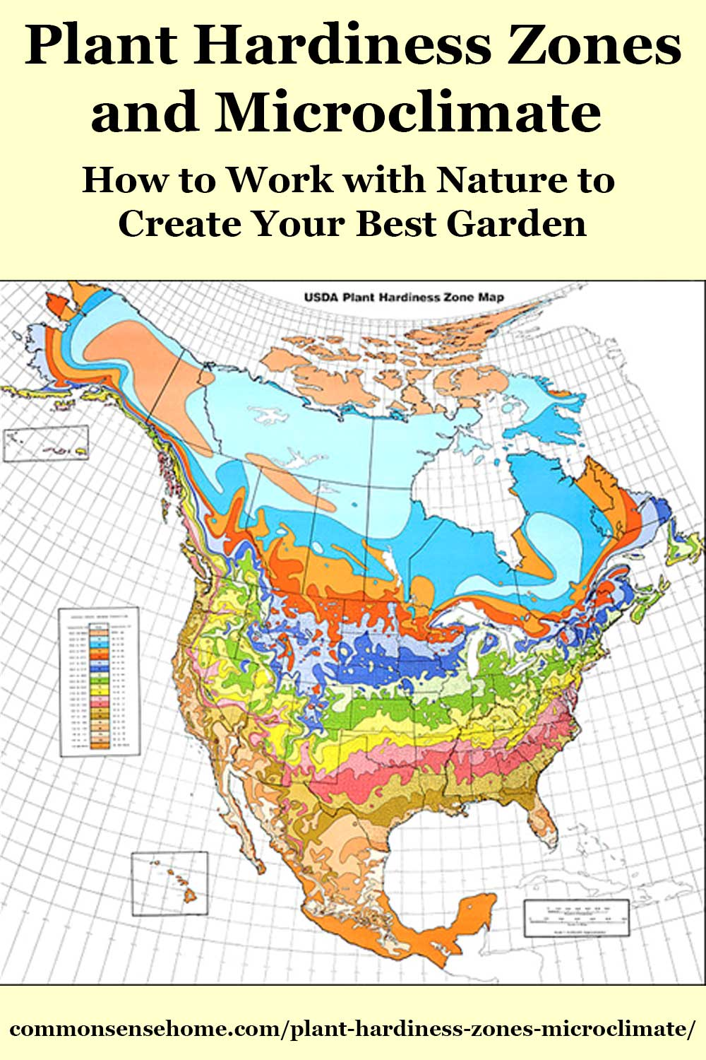 plant hardiness zones map for North America