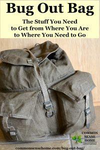 Canvas backpack Bug Out Bag (BOB) or Get Home Bag