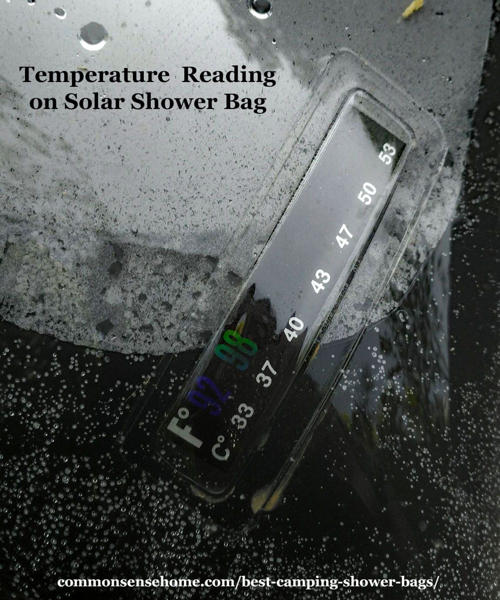 solar shower temperature