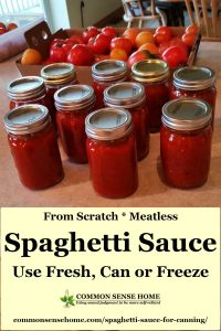 home canned spaghetti sauce