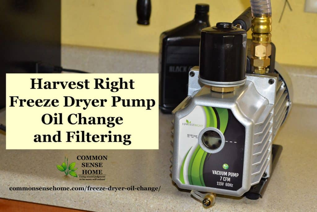 Harvest Right Freeze Dryer pump