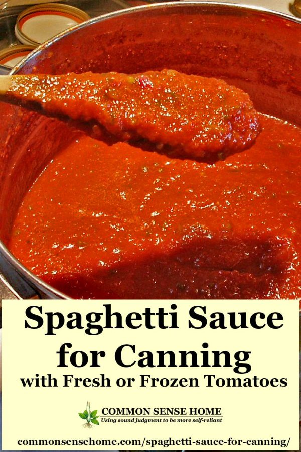 homemade spaghetti sauce ready for canning
