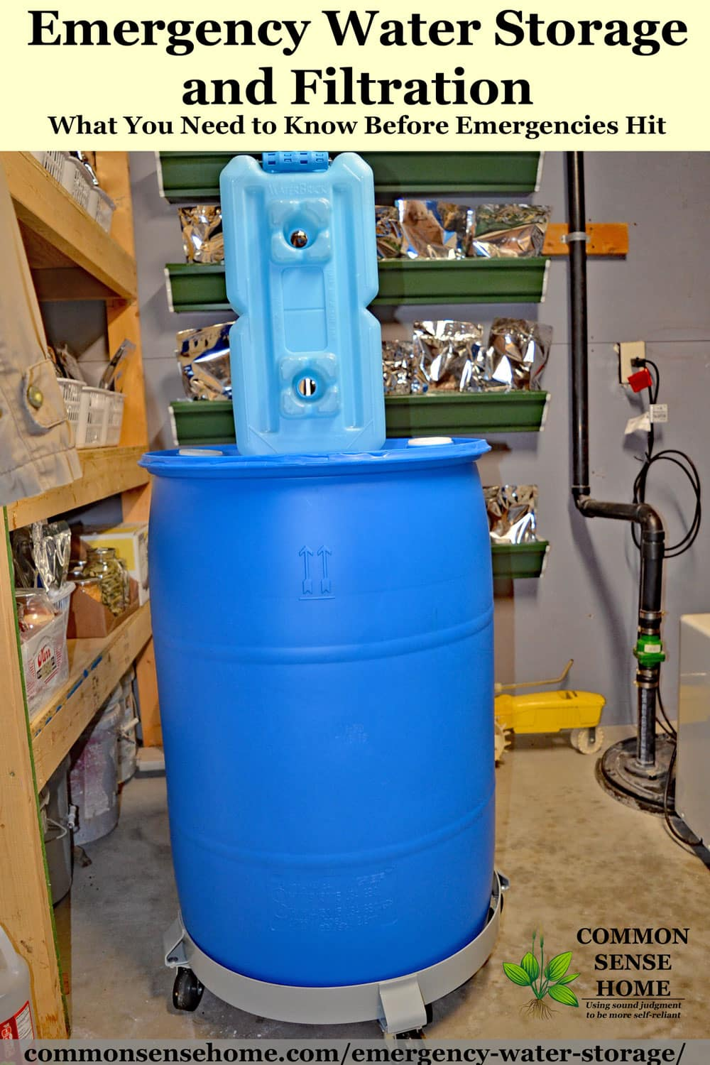 Emergency Water Storage And Filtration Potable Water