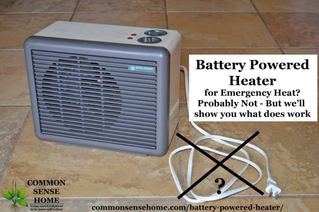battery powered heater alternatives