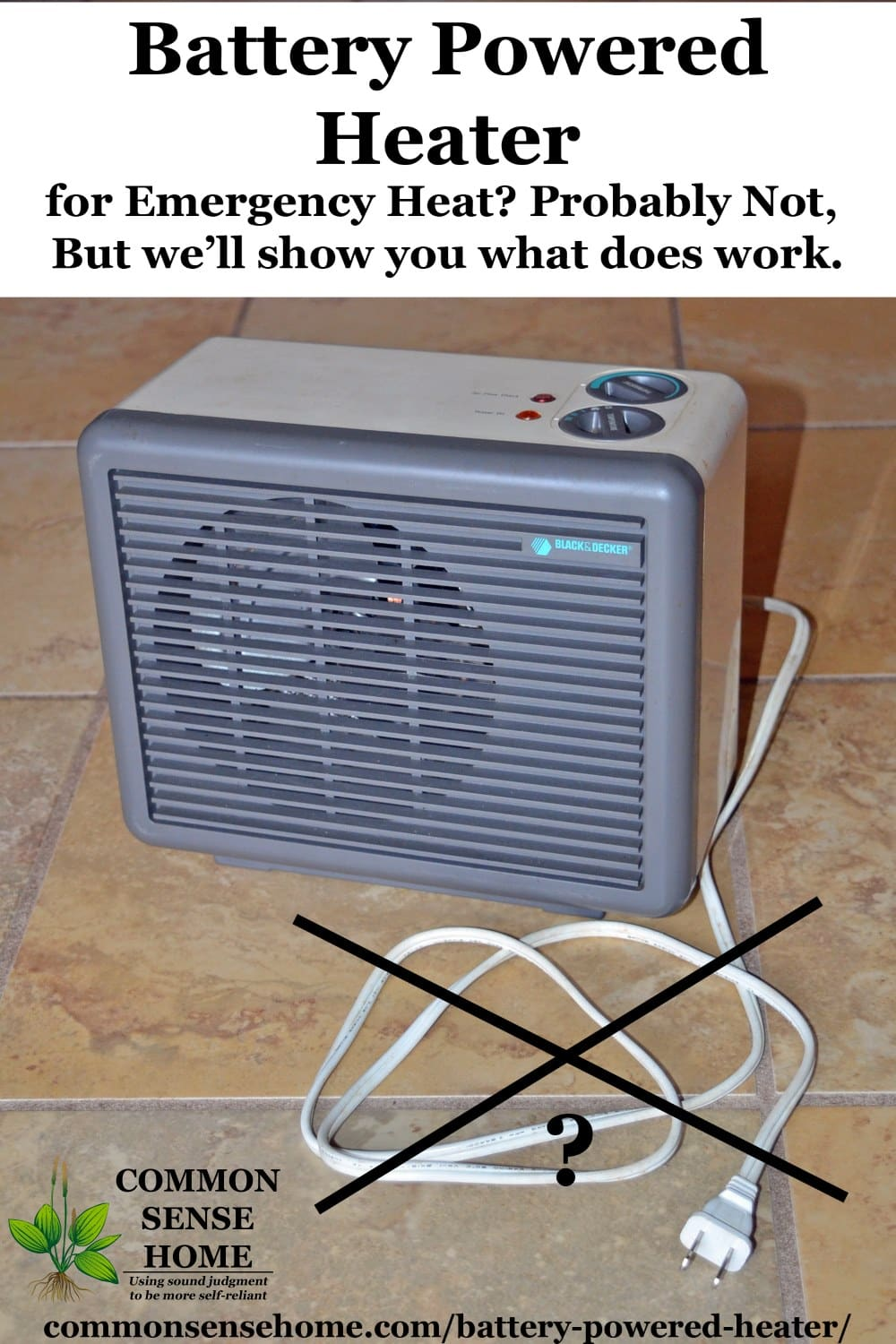 not a battery powered heater