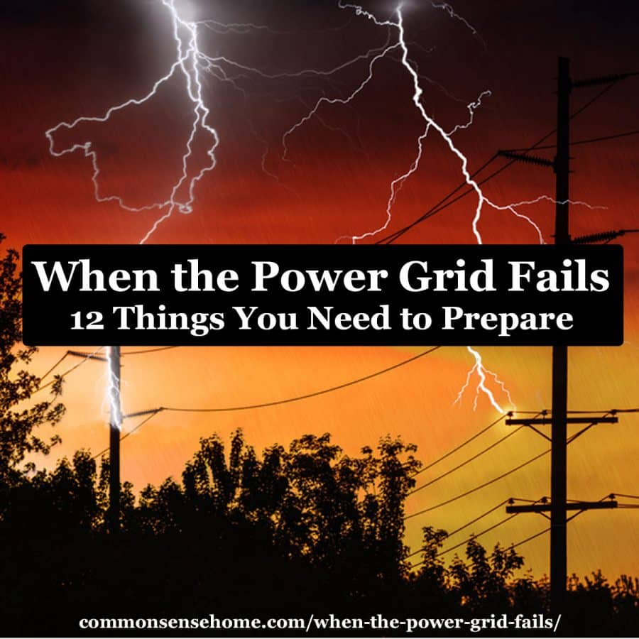 when the power grid fails text over lightning hitting power lines