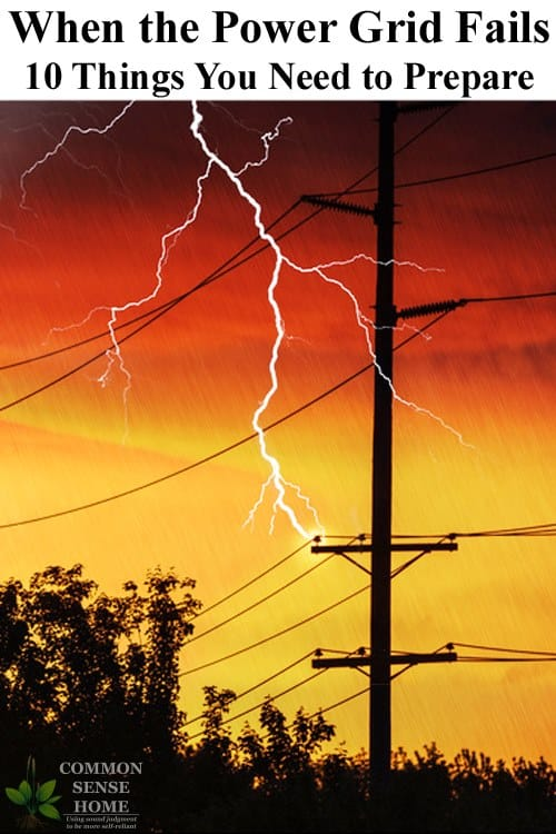 lightning striking near power line