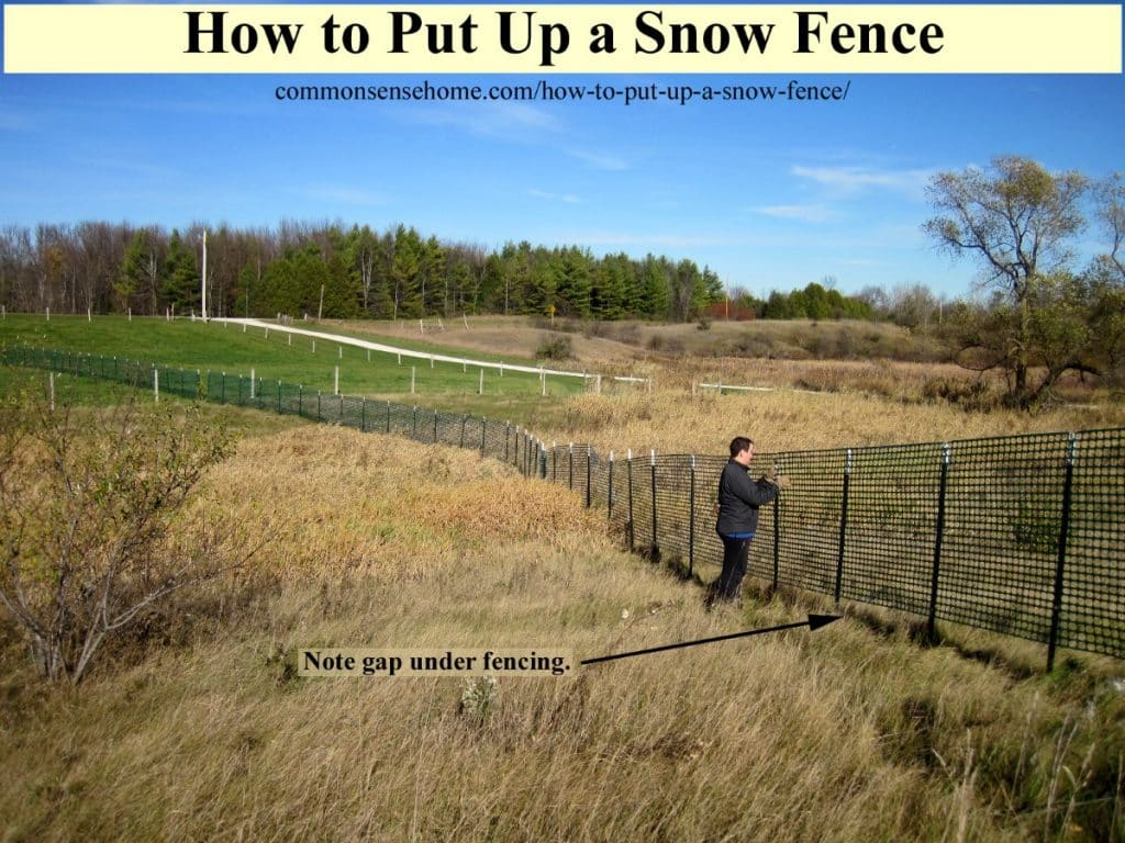 snow fence alignment