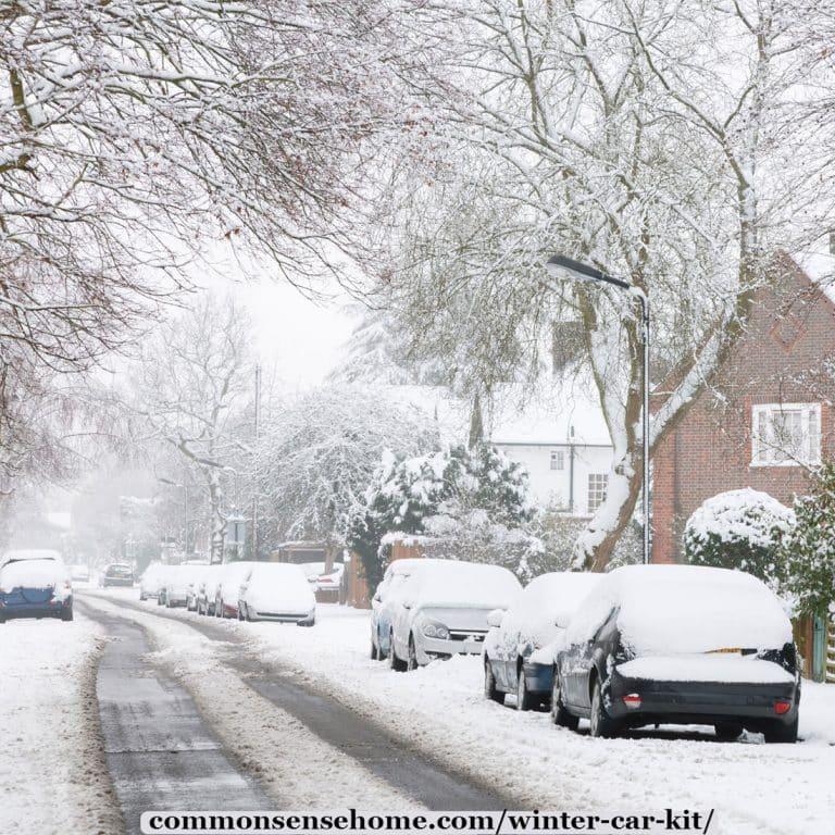 Winter Car Kit and Winter Vehicle Maintenance Checklist