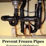 pipes under kitchen sink